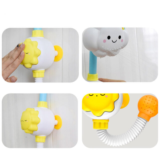 Cute Baby Bath Toys Faucet Shower Whale Dinosaur Eggs Children's Bath Spout Play Water Swimming Bathroom Bathing Toys For Kid