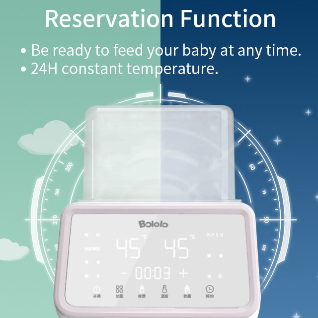 Bololo Milk Warmer Bottle Sterilizer Automatic Multi-function Intelligent Thermostat with LED Light can make an appointment 220v
